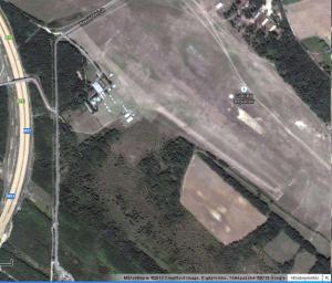 Gödöllői repülőtér a Google Maps-ről